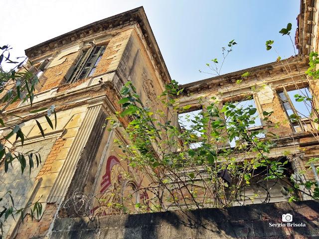 Vista da fachada lateral do Palacete do Barão do Rio Pardo - DEMOLIDO recentemente - Campos Elíseos - São Paulo