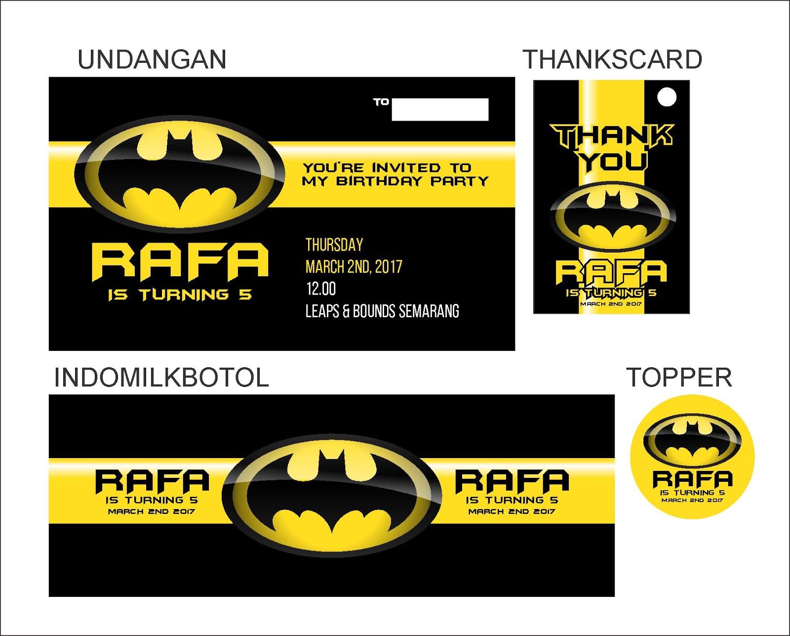 Ataro Designs Label Stiker Undangan Tas Backdrop