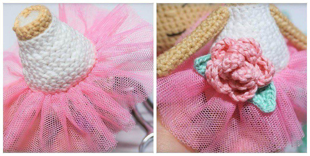 Crochet doll tutorial skirt