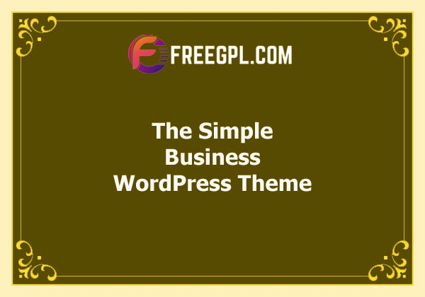 The Simple – Business WordPress Theme Free Download