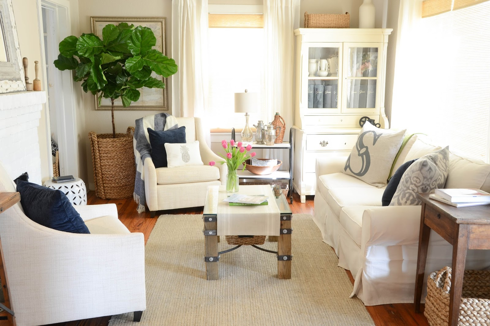 Big Plants For Living Room Iron And Twine Fiddle Leaf Fig Tree