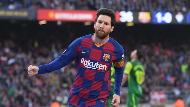 برشلونة يسحق إيبار بخماسية بفضل الأرجنتيني ميسي صاحب الرباعية