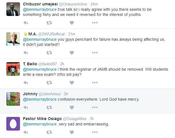 """Senator Ben Murray-Bruce tweets on JAMB's """"inconclusiveness"""""""