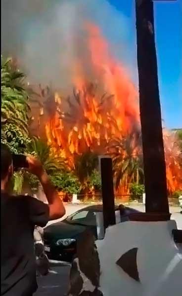 Última hora incendio forestal Fataga, Gran Canaria