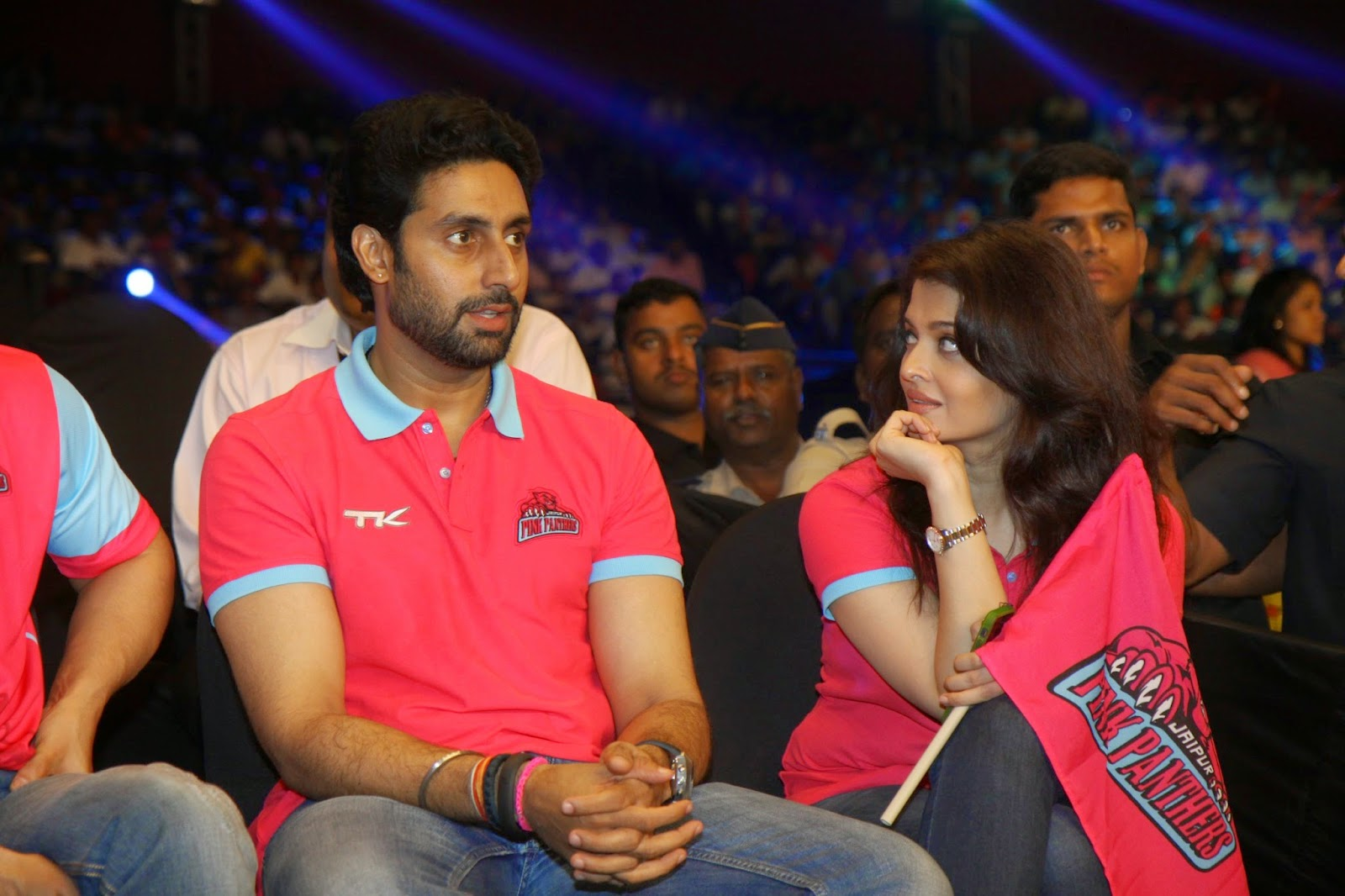 Amitabh, Aishwarya, Abhishek, Aamir, SRK, Sachin at the Jaipur Pink Panthers Pro Kabaddi League