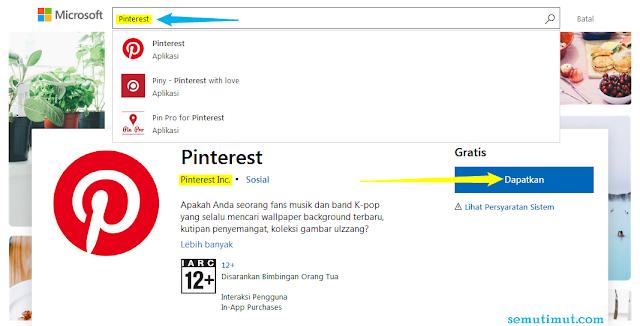 cara download Pinterest di laptop