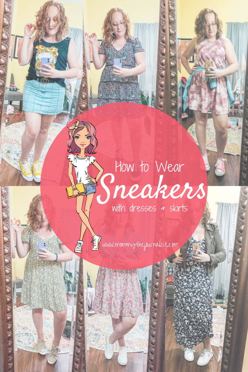 how-to-wear-sneakers-with-dresses-skirts