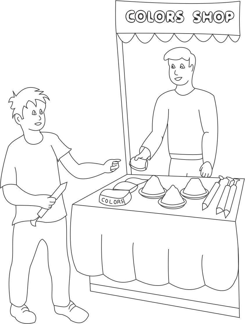 coloring pages of diwali scenes - photo#25