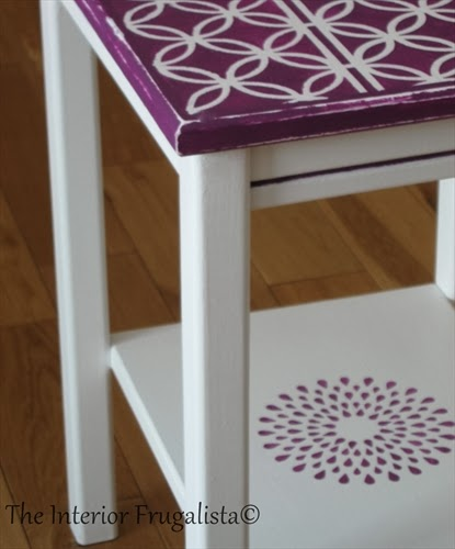 Stenciled table using Country Chic Paint