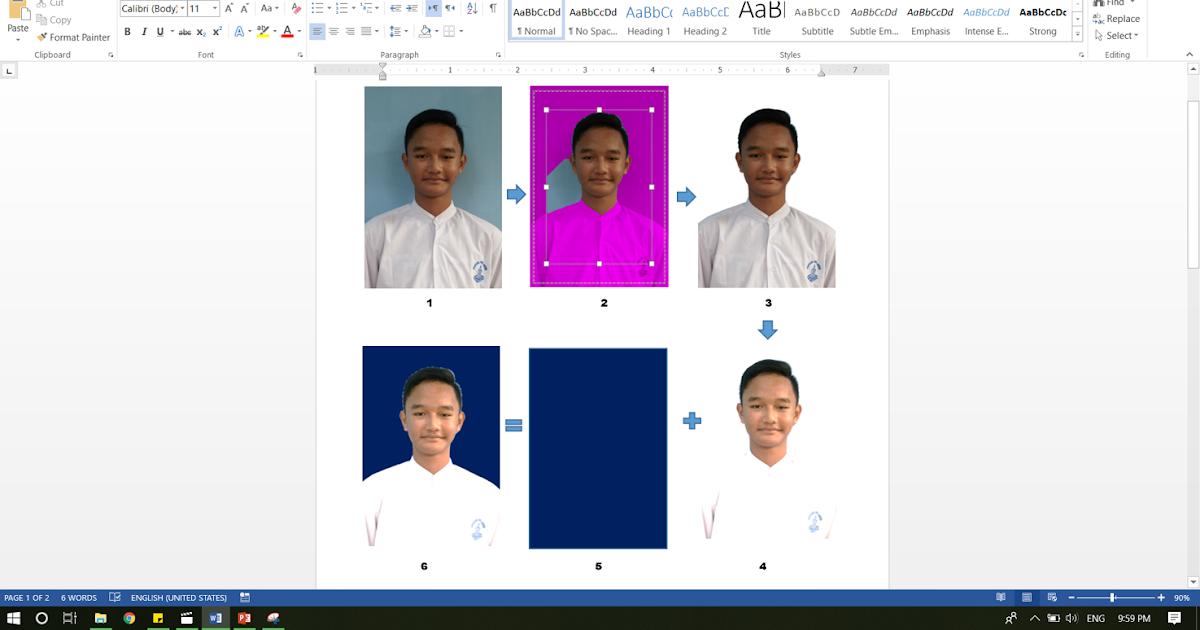 Cara mengubah Background Foto di Ms.Word (Cukup 1 menit ...