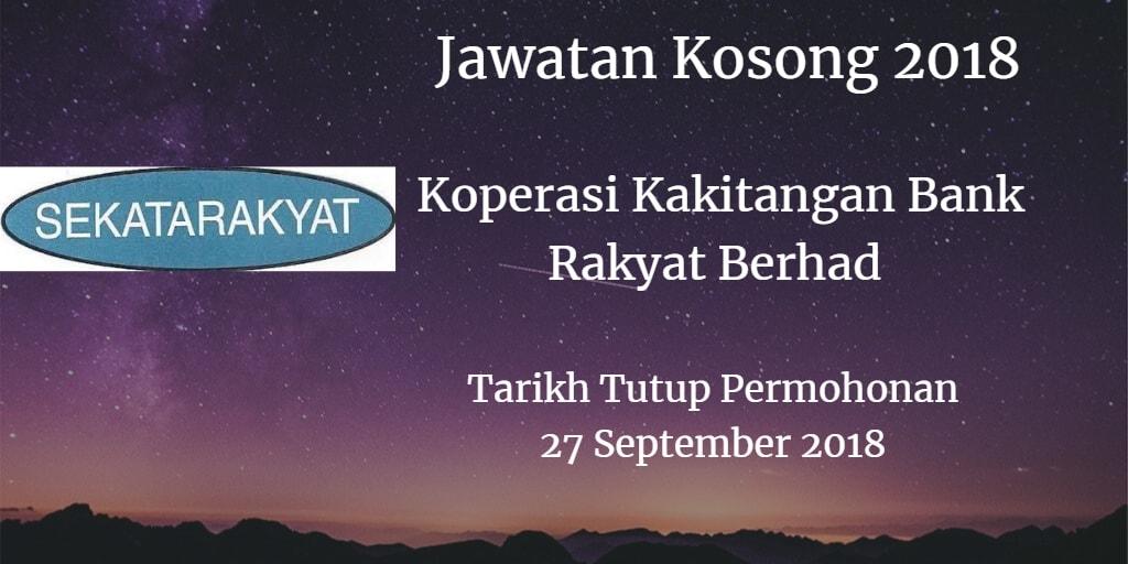 Jawatan Kosong SEKATARAKYAT 27 September 2018
