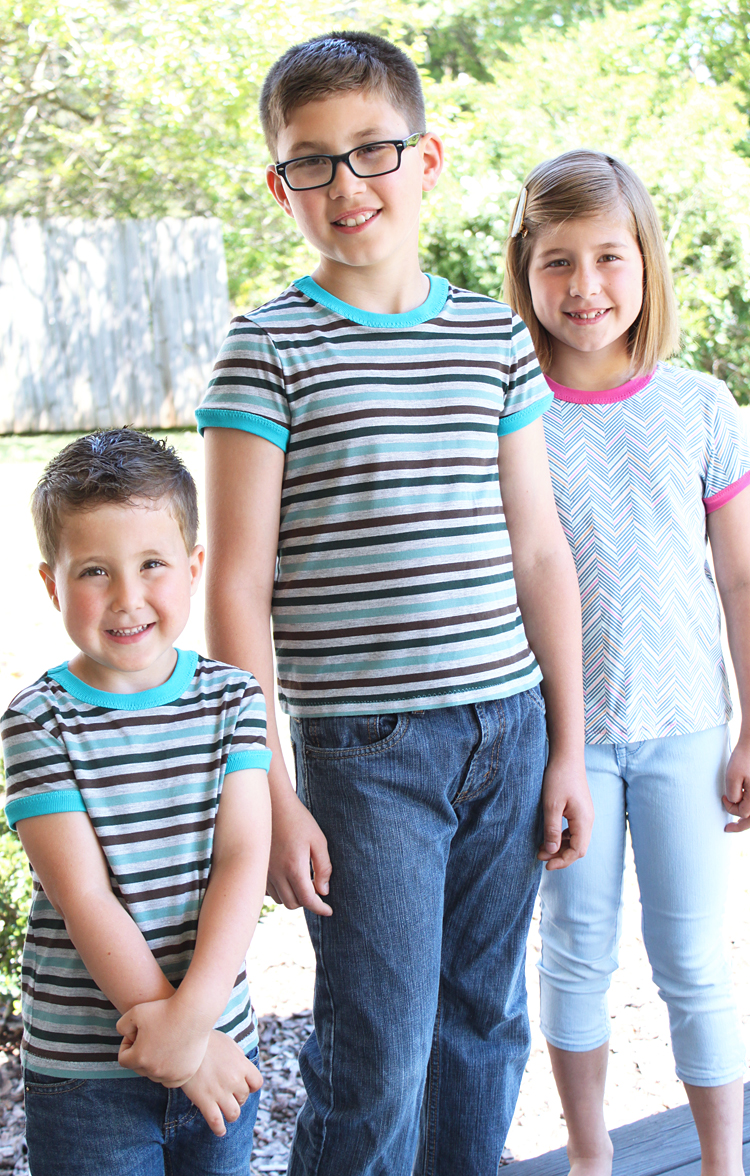 Mini Rio Trio // Rio Ringer Tee // Sewing For Kids