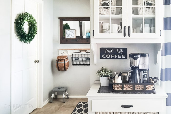painted coffee bar