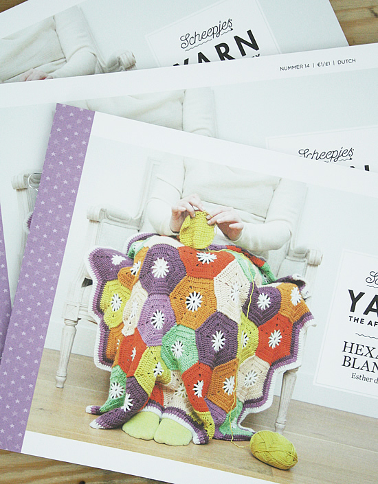 Yarn, the after party. Crochet Hexagon Blanket | Happy in Red