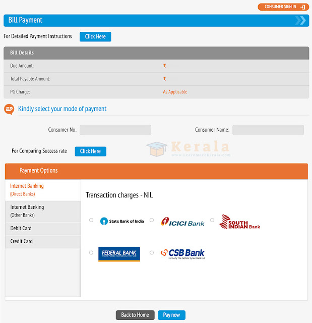 kseb bill payment options