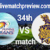 Today 100% Sure Match Prediction-MI vs KKR-IPL T20 2021-34th Match-Who Will Win?