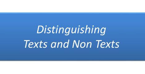 Cara Membedakan Teks dan Nonteks