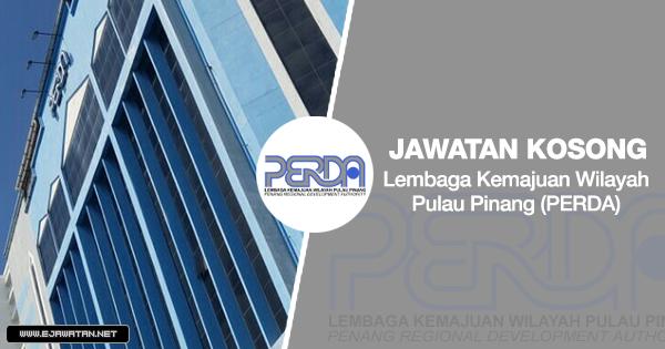 jawatan kosong Lembaga Kemajuan Wilayah Pulau Pinang (PERDA) 2020
