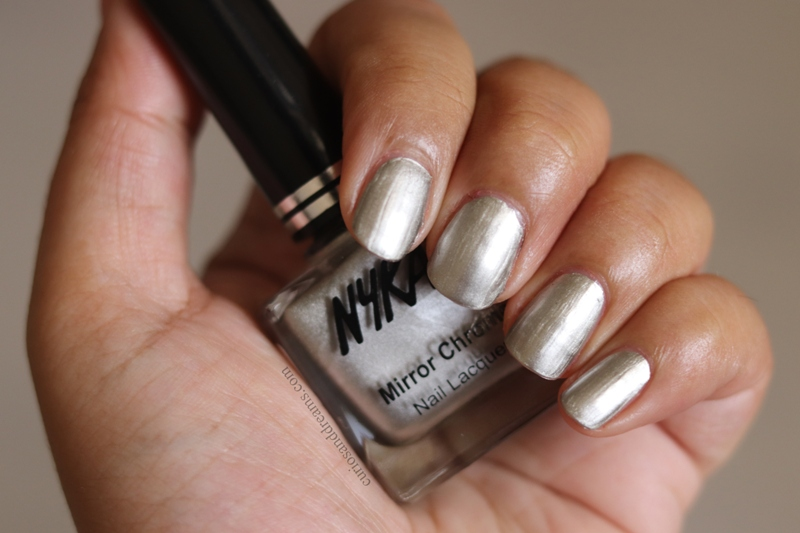 Nykaa Mirror Chrome Nail polish Blonde Gold review