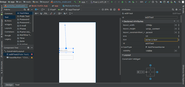 android constraint layout tutorials point