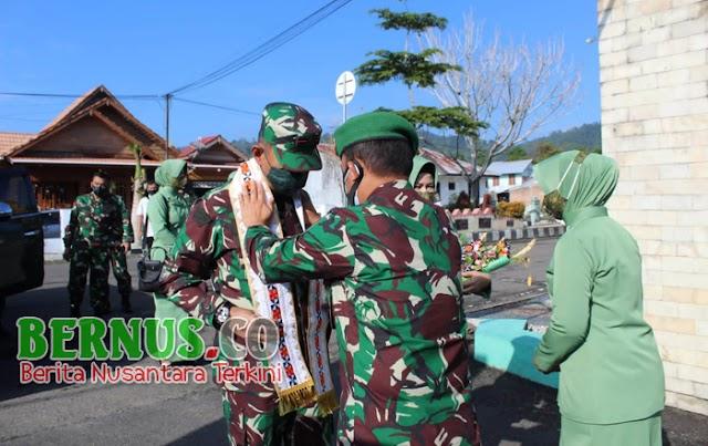 Dandim 0422/Lampung Barat Terima Kunjungan Kerja Danrem 043/Garuda Hitam
