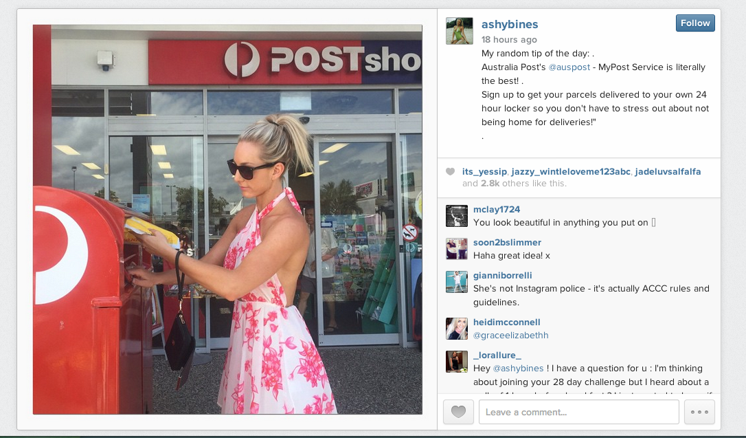You shit me december 2017 postal service australia post appears to have been caught out over its use of social media influencers after it emerged it was paying people without spiritdancerdesigns Image collections