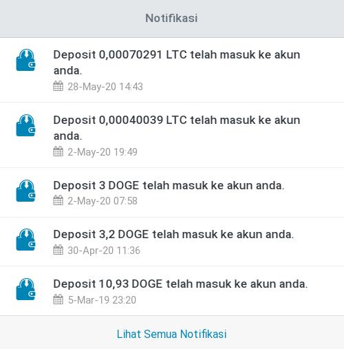 Bukti pembayaran LTC click bot telegram