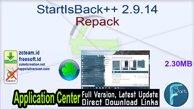 StartIsBack++ 2.9.14 Repack_ ZcTeam.id