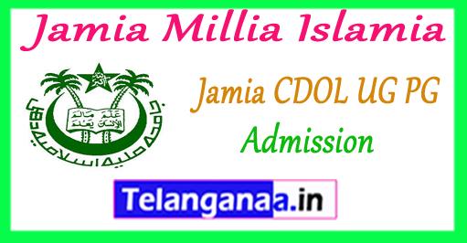 Jamia Millia Islamia CDOL UG PG Admissions 2017-18 Application