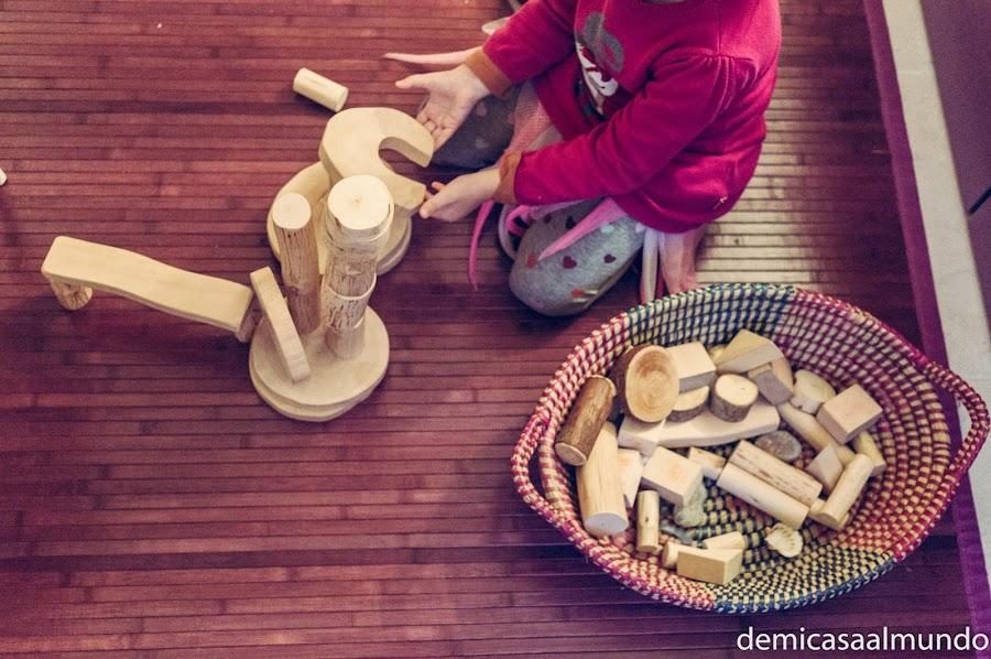 bloques naturales juguetes madera