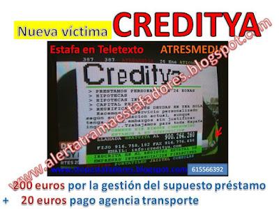 http://laestafadelprestamodelsobrevacio.blogspot.com.es/2016/01/nueva-victima-de-creditya.html