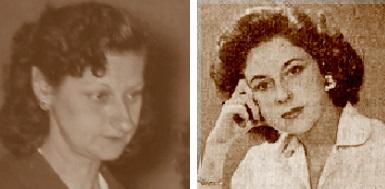 Las ajedrecistas Rosita Borao y María del Carmen Manchón