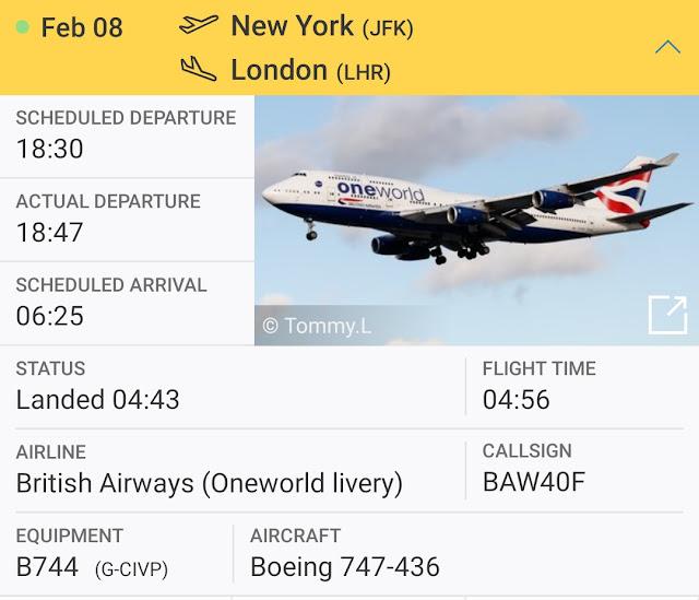 Jarak New York ke London