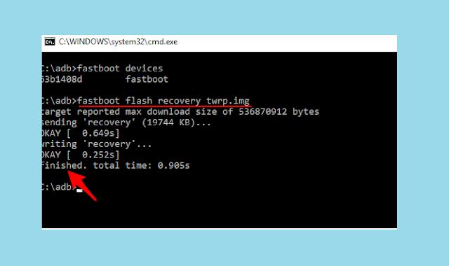 Perintah Pasang TWRP Xiaomi dengan Command ADB