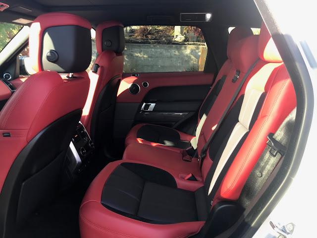 Rear seat in 2019 Range Rover Sport HST MHEV