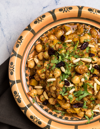 Persian Pumpkin & Chickpea Tagine Bowl-
