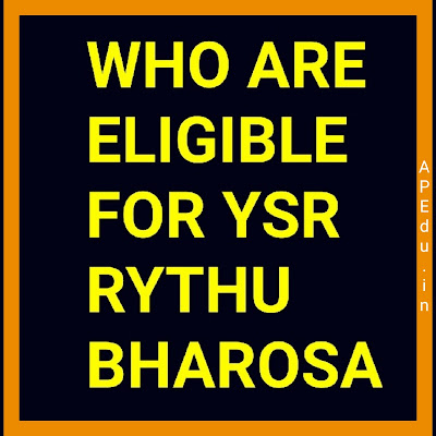 Who are eligible for YSR RYTHU BHAROSA