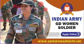 Join Indian Army GD Women Soldier