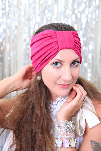 Turban Headband in Fuchsia by Mademoiselle Mermaid