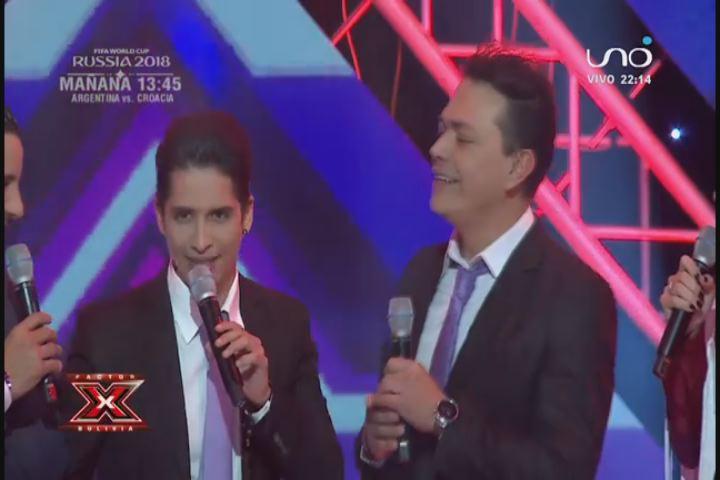 Asbel y Marquinzuela relatando el partido de Factor X