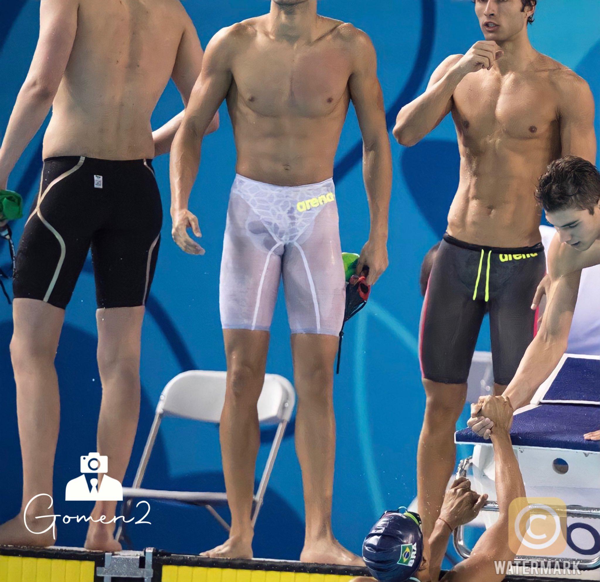 trajes de baño transparentes en los olímpicos