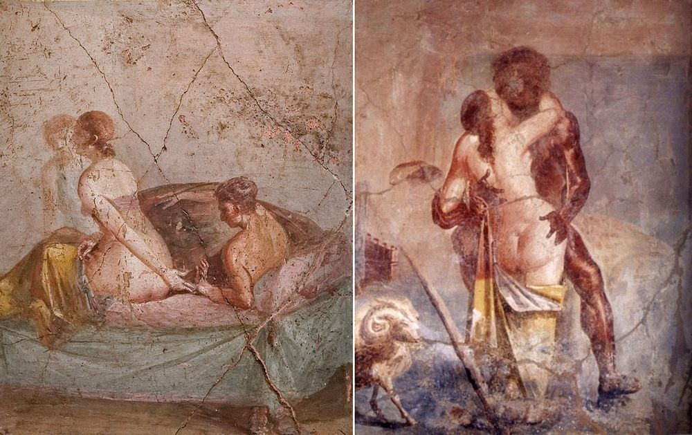 Phallic-shaped amulets hung from the neck of Pompeii residents to ward of  evil spirits, and an assortment of sex-themed artworks embellished every  home.