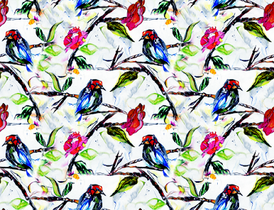 birds clipart textile repeat 7037
