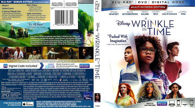 A Wrinkle In Time (scan) Bluray Cover