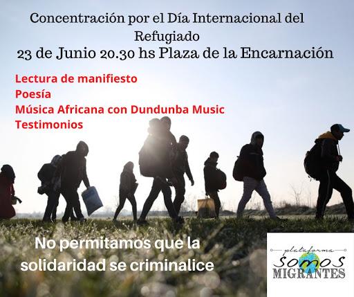 CONCENTRACIÓN por el Día Internacional del Refugiado