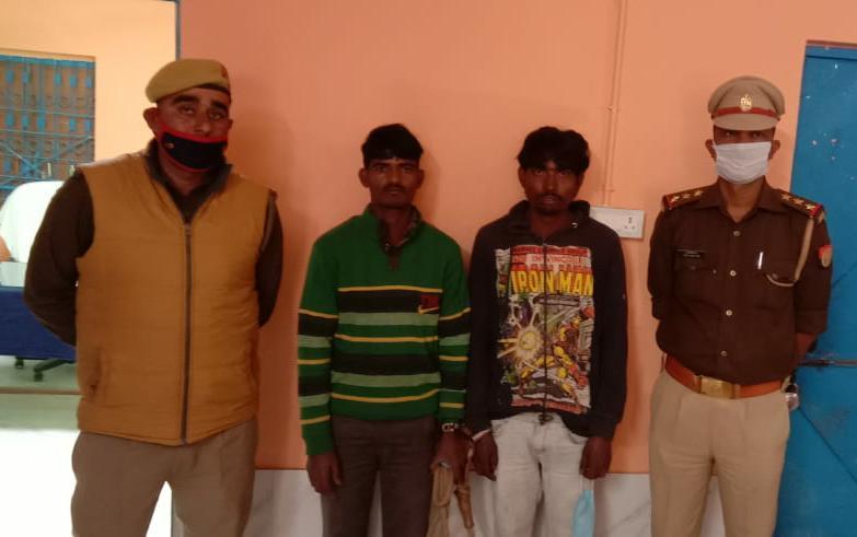 कुर्सी पुलिस ने जिला बदर दो अभियुक्तों को किया गिरफ्तार