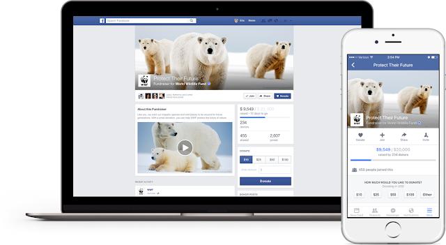 Facebook lança páginas dedicadas para organizações sem fins lucrativos fundraiser