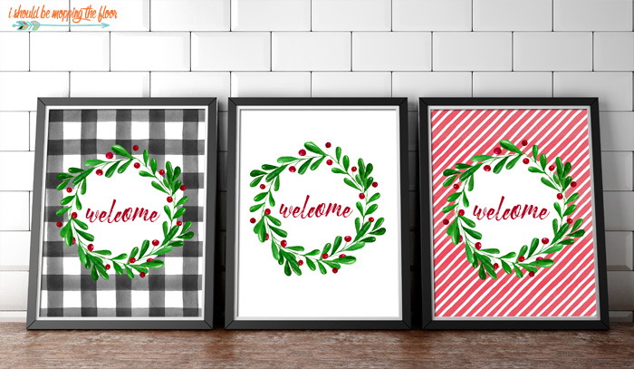 Welcome Printables for Christmas