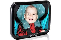 Baby Backseat Mirror for Car - View Infant in Rear Facing Car Seat - 100% Lifetime Satisfaction Guarantee - Best Newborn Safety with Secure Headrest Double-Strap - Essential...
