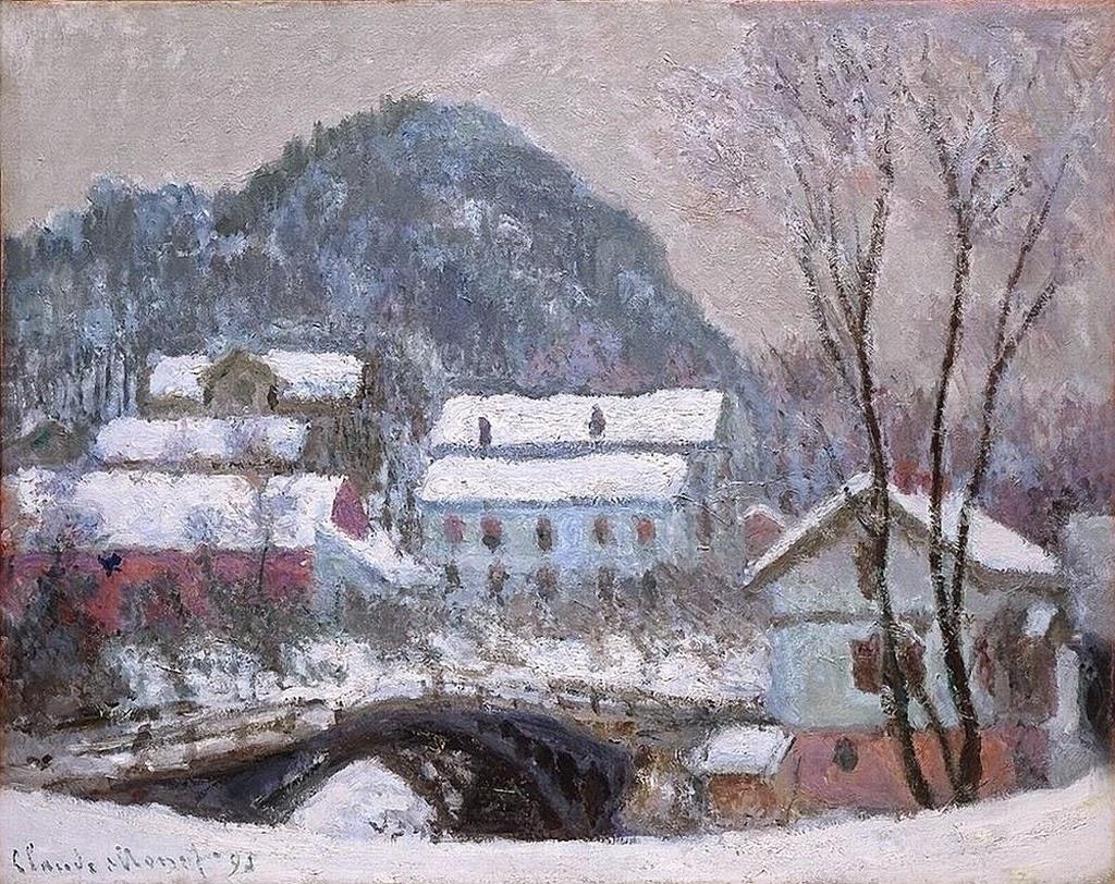 Athenae Noctua Inverni ad arte la neve sui tetti